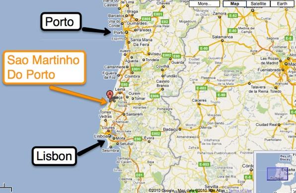 Mapjpg - Portugal map silver coast